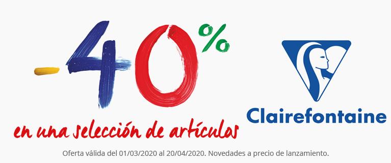 -40% en una selección de productos Clairefontaine