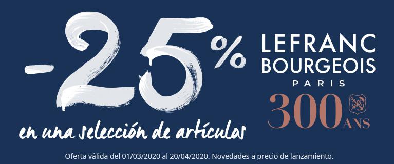 -25% en una selección de productos Lefranc & Bourgeois