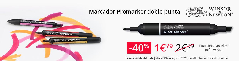 Marcador Promarker doble punta