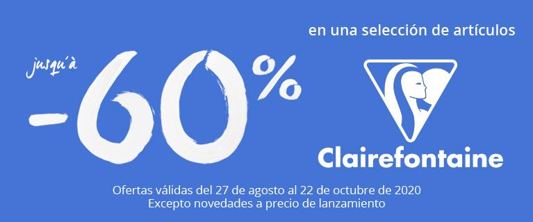 hasta - 60 % en una seleccion de articulos Clairefontaine