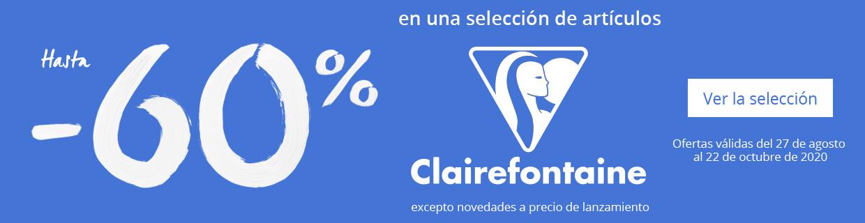 Hasta - 60% en una seleccion de articulos Clairefontaine