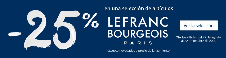 -25% en una seleccion de articulos Lefranc Bourgeois