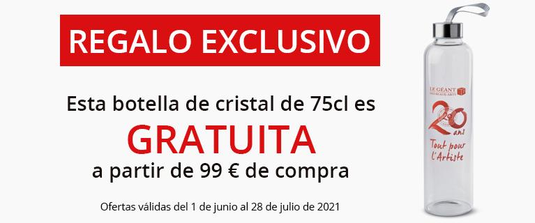 Regalo exclusivo : botella de cristal gratuita a partir de 99€ de compra