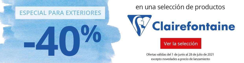 -40% en una selección de productos Plein Air Clairefontaine