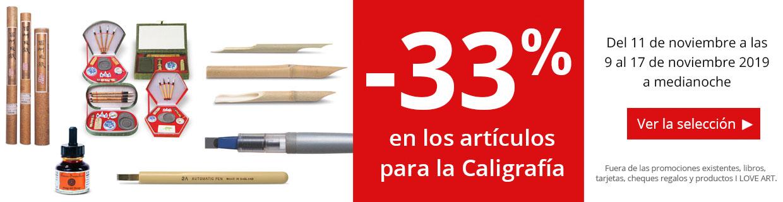 -33% en una seleccion de productos para la caligrafia