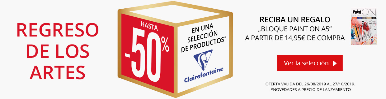 Una selleción de productos Clairefontaine