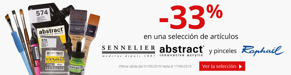 Hasta -33% en una selección de productos Sennelier, Abstract y Raphael